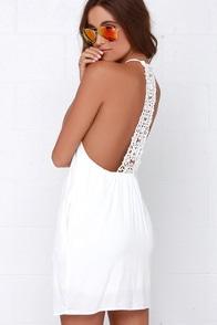 She's a Dream Ivory Lace Dress at Lulus.com!
