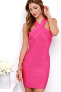 Hotshot Fuchsia Bodycon Dress at Lulus.com!