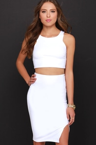Double Entendre Ivory Two-Piece Dress at Lulus.com!