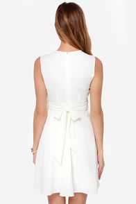 Darling Faye Embroidered Ivory Dress at Lulus.com!