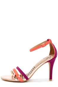 Dolce Vita Suki Hibiscus Color Block Single Sole Heels at Lulus.com!