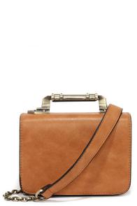 Meet in the Metal Tan Mini Handbag at Lulus.com!