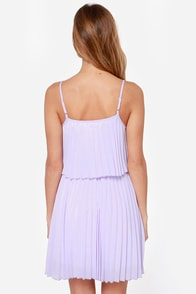 Pleats on Earth Lavender Dress at Lulus.com!