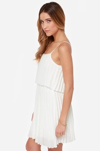 Pleats on Earth White Dress at Lulus.com!