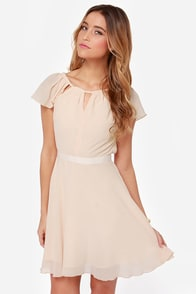 Sweet Escape Light Peach Dress