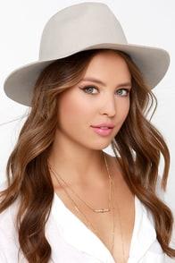 Rhythm The Pocket Light Grey Fedora Hat at Lulus.com!