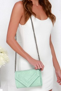 You Got a Point Mint Clutch at Lulus.com!