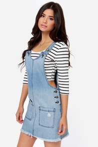 Others Follow Andrea Denim Overall Dress at Lulus.com!