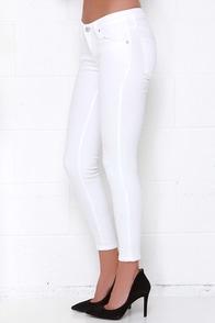 White Ankle Skinny Jeans - Xtellar Jeans