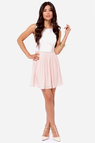 Jack by BB Dakota Camille Vegan Leather Blush Dress at Lulus.com!