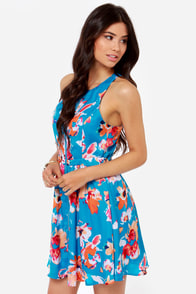 Jack by BB Dakota Caineville Blue Floral Print Dress at Lulus.com!