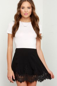 Flower Dancer Black Lace Skirt at Lulus.com!