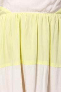 O'Neill Babe Ivory and Yellow Dress at Lulus.com!