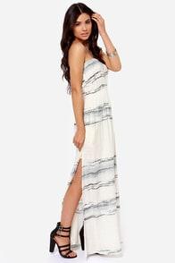 O'Neill Waterfall Cream Print Strapless Maxi Dress at Lulus.com!