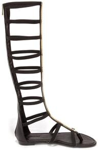 Cute Black Sandals Tall Gladiator Sandals 39 00