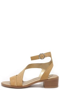 Swoop There It Is Natural Ankle Strap Sandals at Lulus.com!