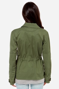 Obey Ballard Army Green Jacket at Lulus.com!