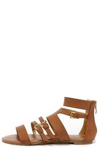 Cypress Cognac Gladiator Sandals at Lulus.com!