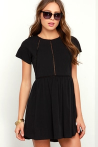 Rhythm My Tee Washed Black Dress at Lulus.com!