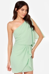 Gracefully Grecian One Shoulder Mint Dress at Lulus.com!