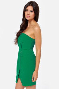 Cutie Pie Strapless Green Dress at Lulus.com!
