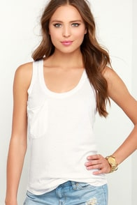 Fly as You Might Ivory Burnout Tank Top at Lulus.com!