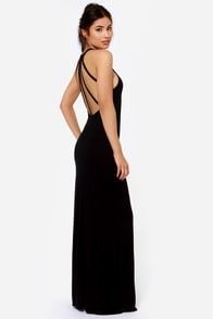 Strap and Gown Black Maxi Dress at Lulus.com!