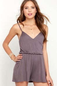 Stellar Style Dusty Purple Romper at Lulus.com!