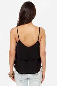 Lend Me Your Tiers Black Tank Top at Lulus.com!