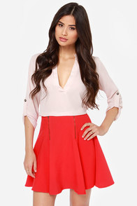 Steal a Kiss Red Skirt at Lulus.com!