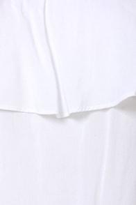 Flutter You Doing? Off-the-Shoulder White Top at Lulus.com!