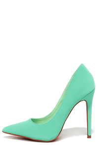 Make It Snappy Mint Pointed Pumps at Lulus.com!