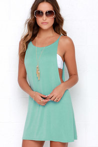 To Be Carefree Seafoam Sleeveless Dress at Lulus.com!