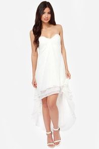 Seventh Heaven Strapless Ivory Dress at Lulus.com!