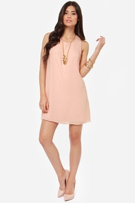 Sipping Pretty Peach Dress at Lulus.com!
