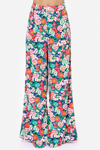 All Sy-Stems Go Pink Floral Print Wide-Leg Pants at Lulus.com!