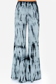 Day Trippy Navy Blue Tie-Dye Pants at Lulus.com!
