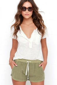 Billabong Road Trippin Olive Green Shorts at Lulus.com!