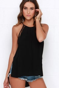 Fairest Creatures Black Lace Top at Lulus.com!