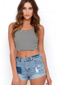 Billabong High Side All Patched Up Distressed Denim Shorts at Lulus.com!