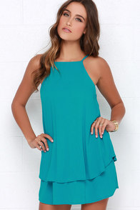 Dee Elle Whimsical Whim Turquoise Dress at Lulus.com!
