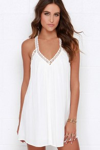 I'm Impressed Ivory Crochet Dress at Lulus.com!