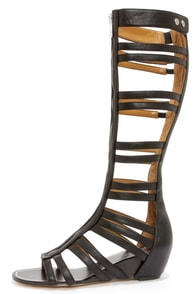 Report Signature Mesa Black Tall Caged Gladiator Sandals