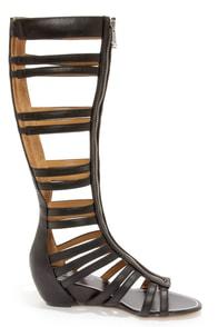 Report Signature Mesa Black Tall Caged Gladiator Sandals at Lulus.com!