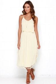Colada Love Cream Midi Dress at Lulus.com!