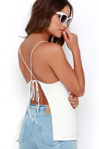 Gone Going Ivory Tank Top at Lulus.com!