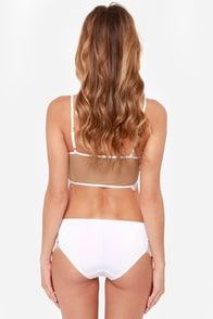 For Love & Lemons Bat Your Lashes White Cheeky Panty at Lulus.com!