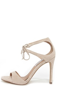 Steve Madden Semona Blush Suede Lace-Up Heels at Lulus.com!