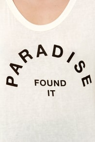 Paradise Lost Cream Tee at Lulus.com!