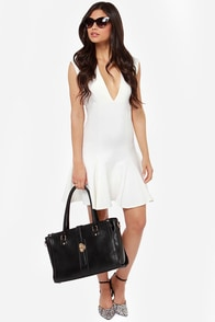 LULUS Exclusive Fine By Me Ivory Dress at Lulus.com!
